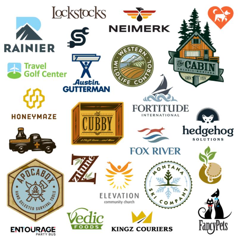 数々のロゴ実例