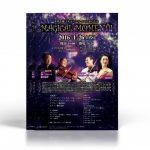 魔法を彷彿とさせるクラシックコンサートのフライヤーデザイン作成例。