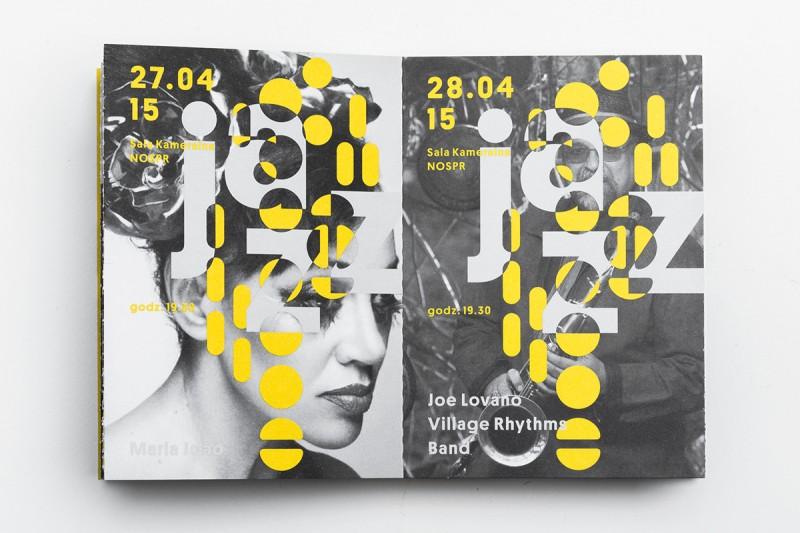 ジャズフェスティバルのブックレットデザイン