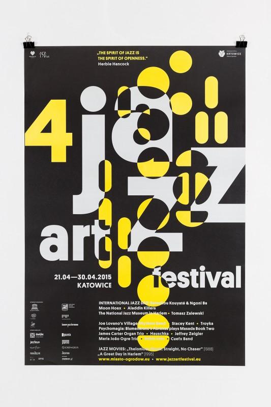 ジャズフェスティバルのポスターデザイン