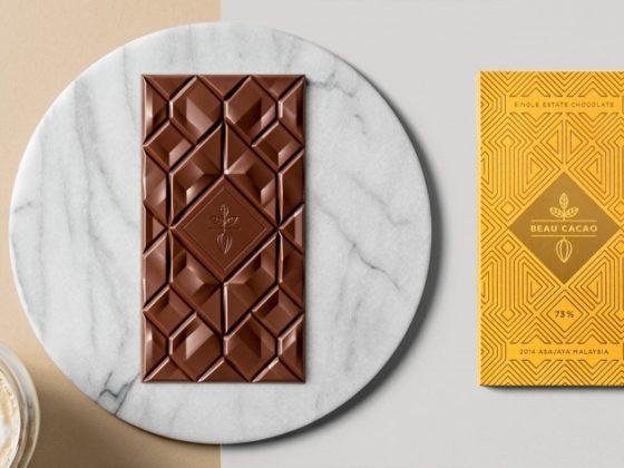 高級感のあるチョコのパッケージ