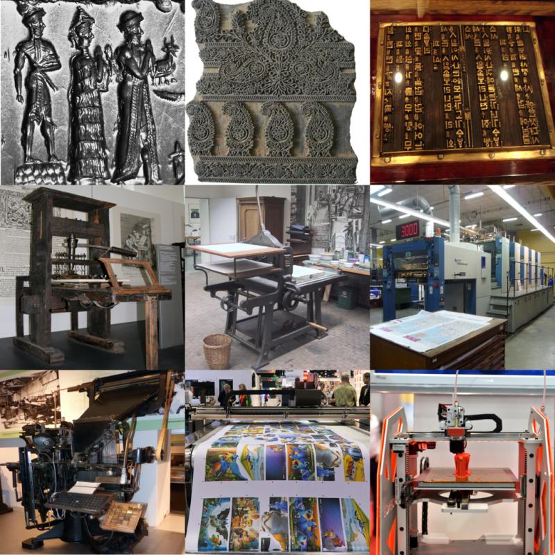 印刷の種類と歴史について