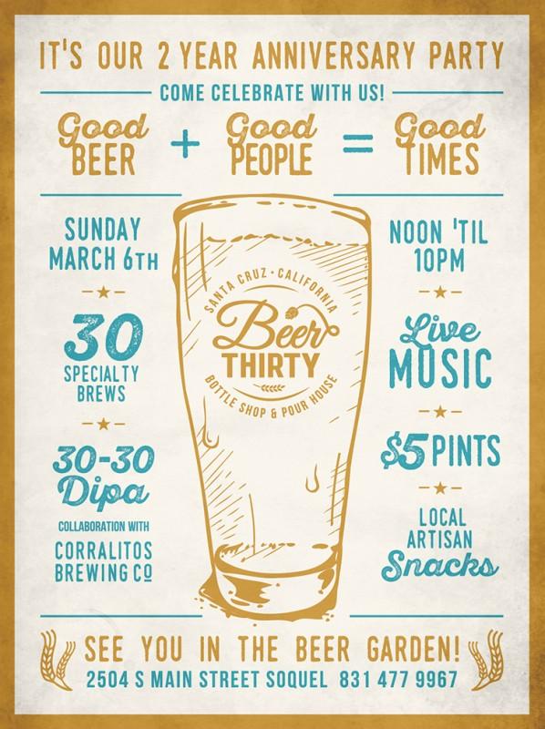 ビールのポスターデザイン2