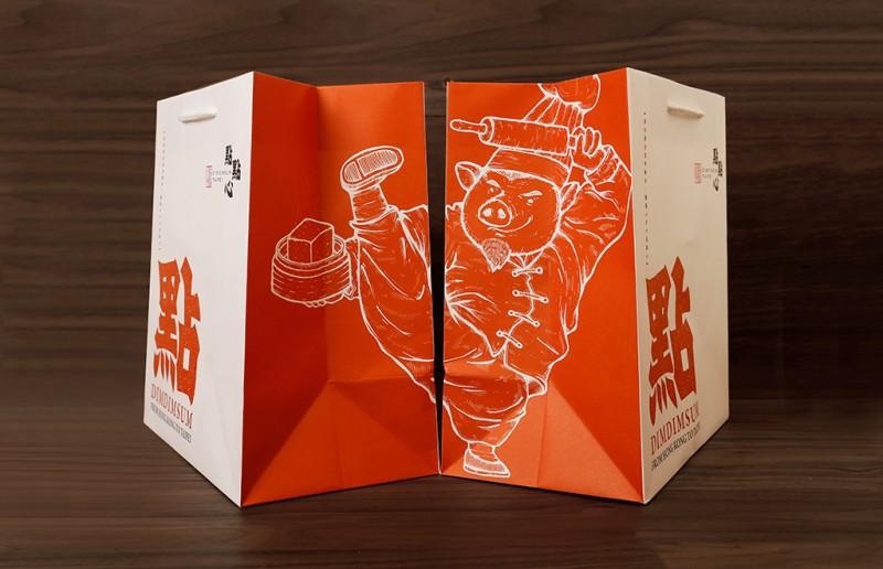 ショップバッグのデザイン