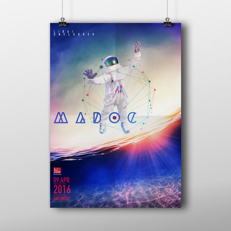 宇宙飛行士のフライヤーデザイン
