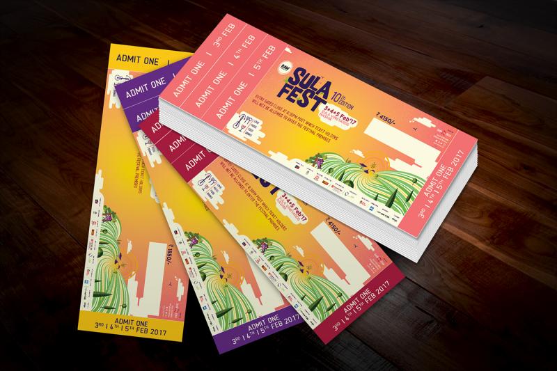イベントのチケットデザイン