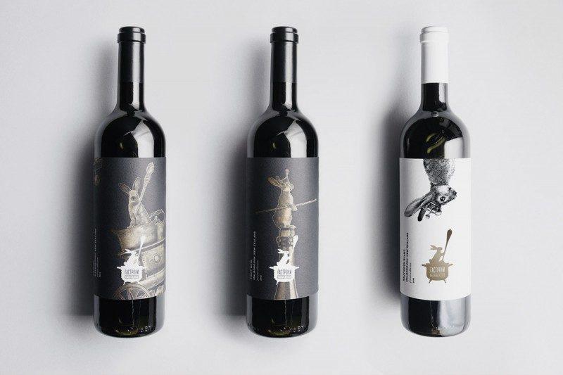 ロゴを活用したワインラベルデザイン作成例