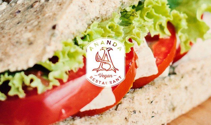 ヴィーガン向けレストランのロゴ作成例