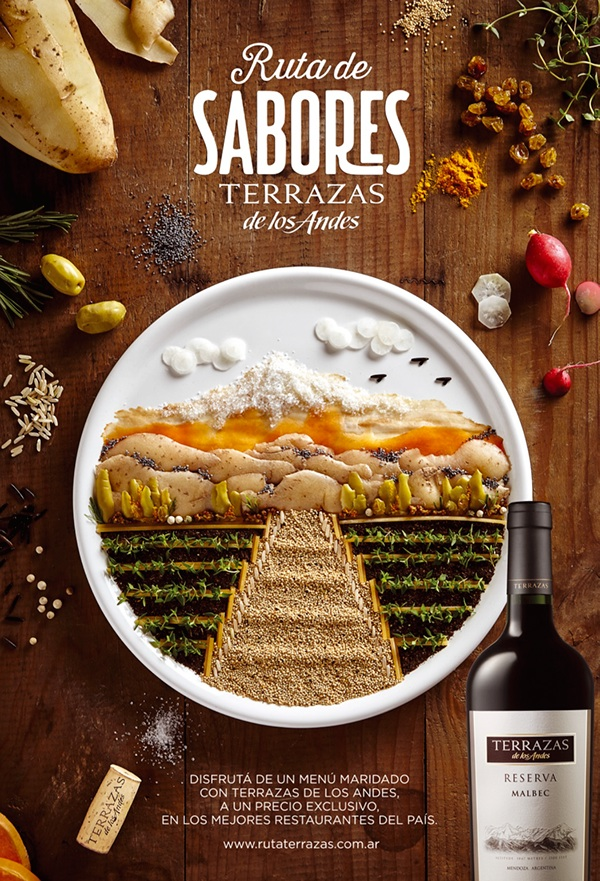 ワインの広告制作例