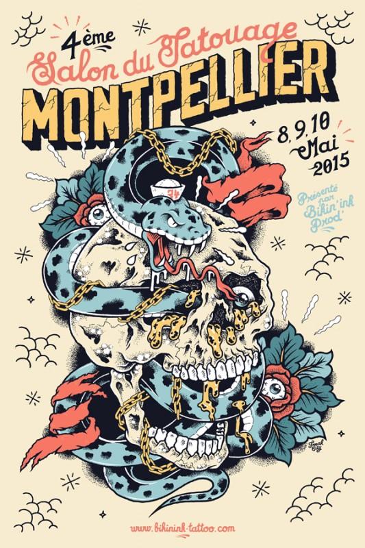 タトゥーフェスティバルのポスターデザイン