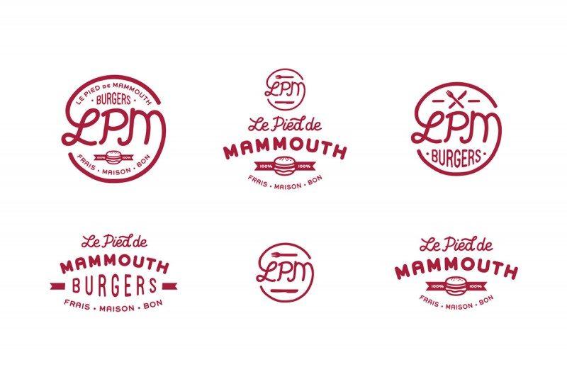 ハンバーショップのロゴを考える