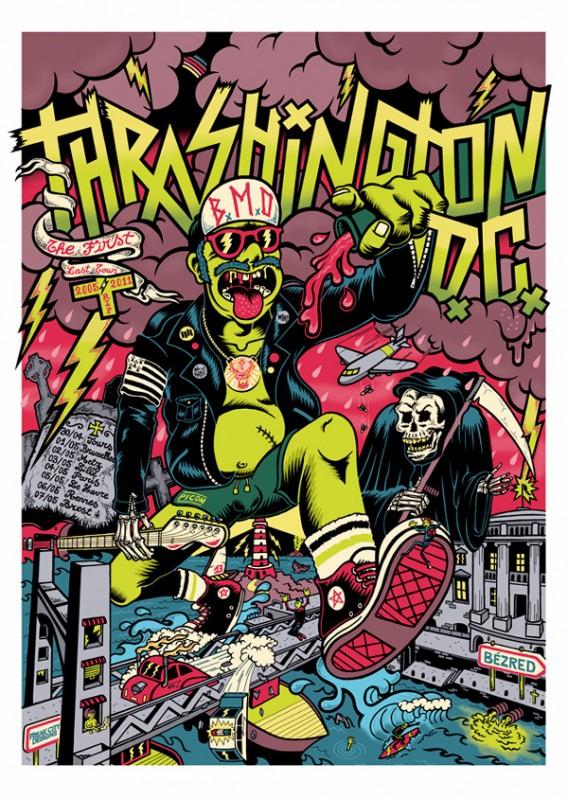 ロックコンサートのポスター作成事例2