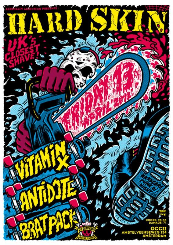 ロックコンサートのポスター作成事例3