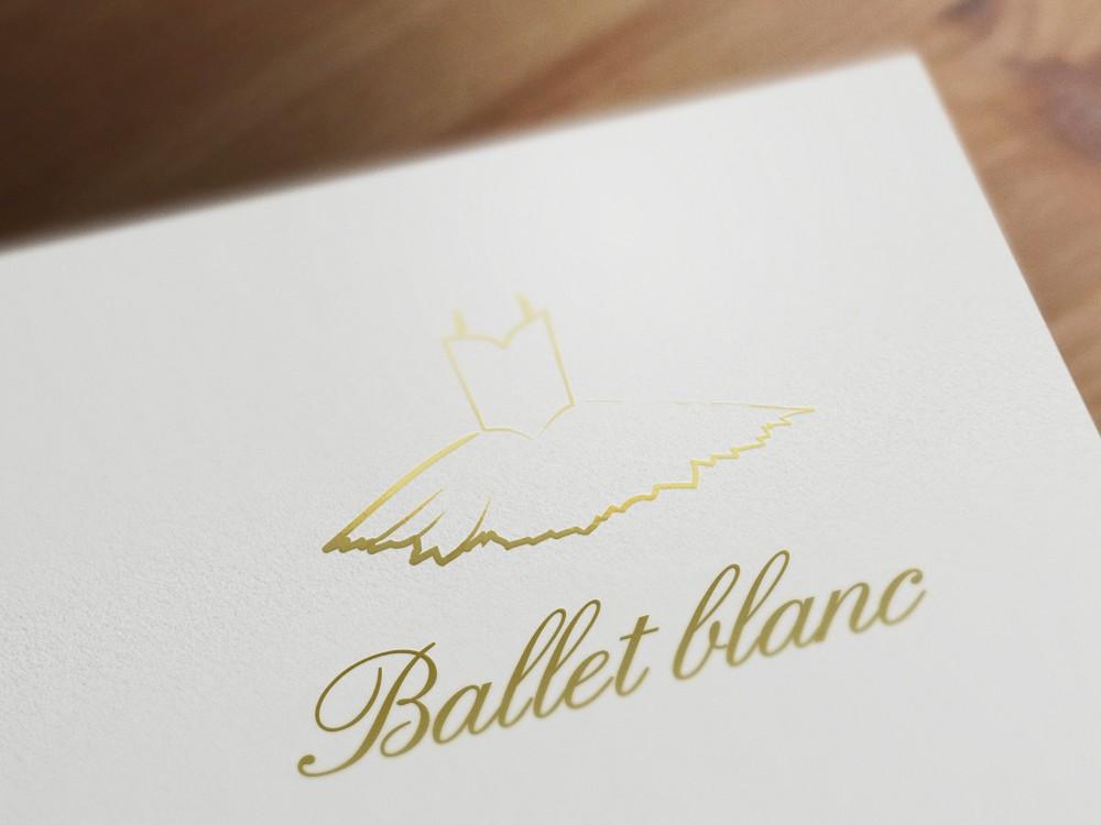 バレエスタジオのロゴ制作例