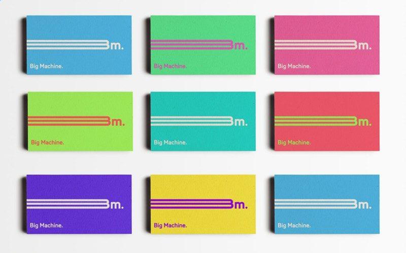 豊富なカラー展開の企業ロゴ