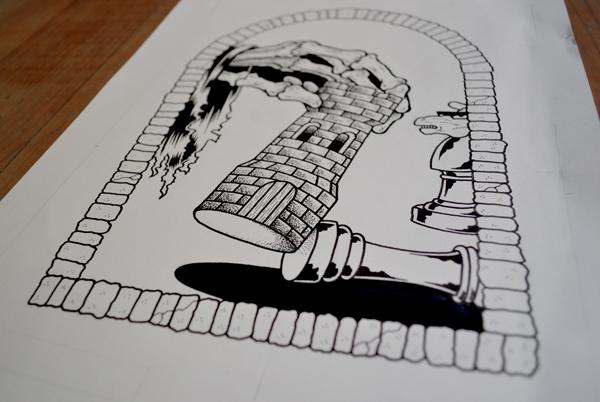 ポスターデザインのラフ1