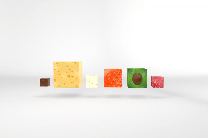 栄養に関するインフォグラフィックデザイン