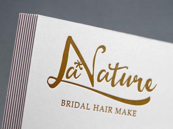 ブライダルヘアメイクのロゴデザイン作成例