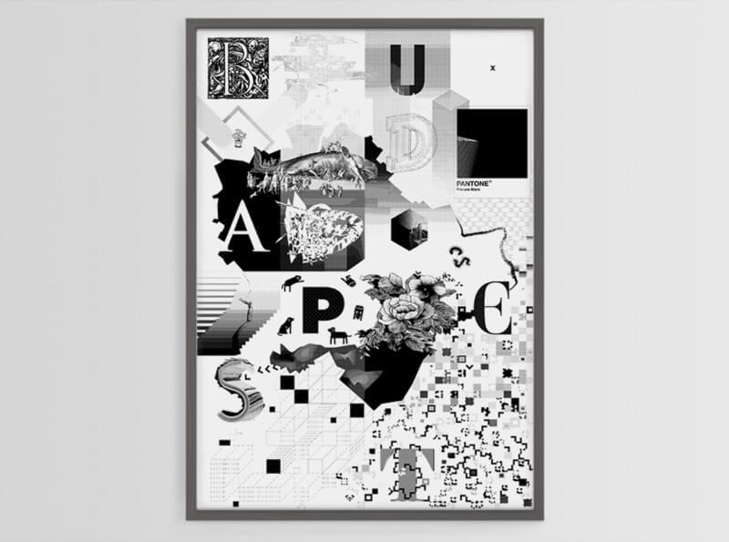 地図を模したポスターデザイン