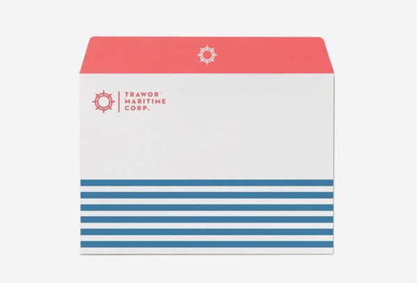海運会社の封筒デザイン