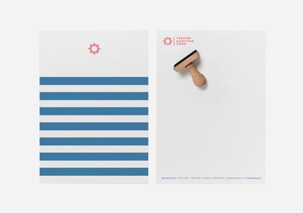 海運会社の書類デザイン
