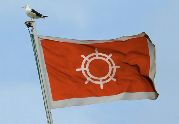 海運会社のロゴ作成例