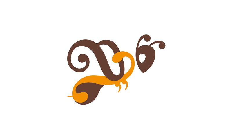 養蜂場のロゴ作成例