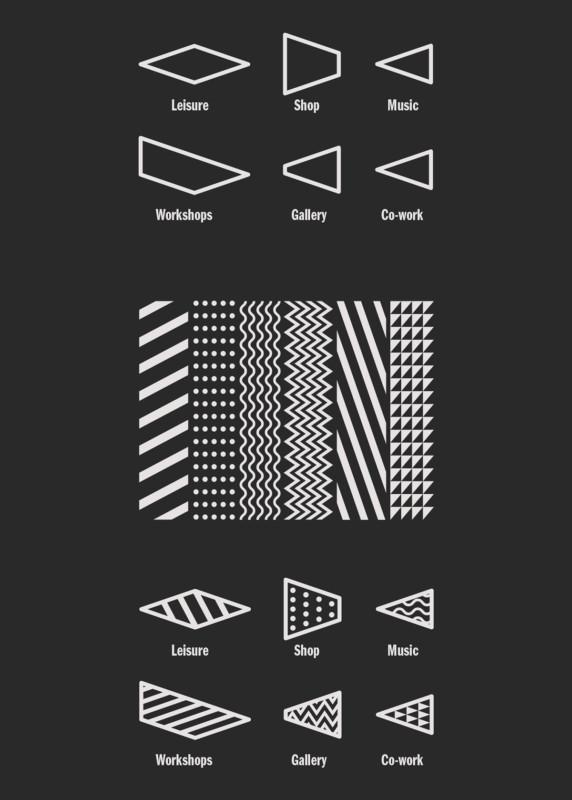 施設のロゴの分解図