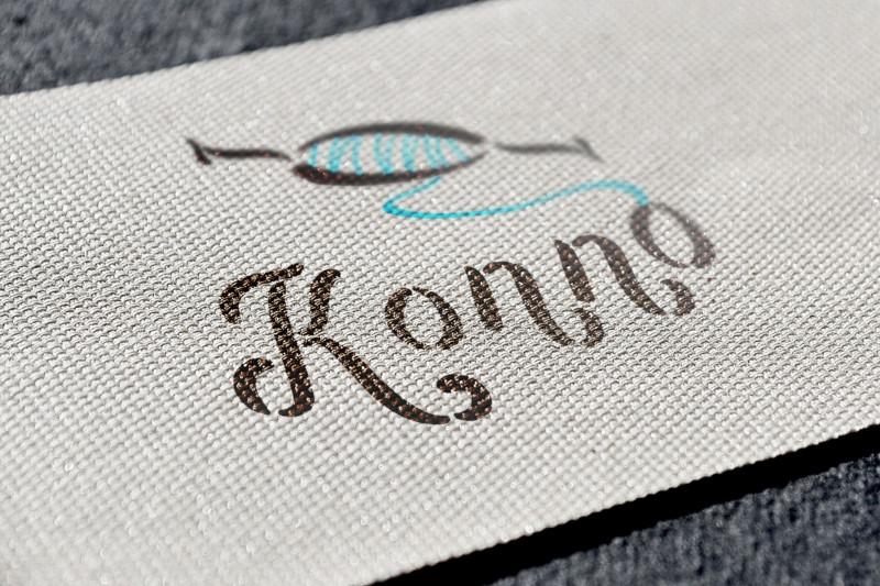 織物製造業のロゴ作成例