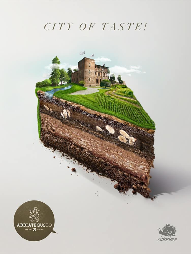 イタリア食文化推進団体の広告デザイン
