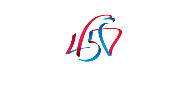 ロシアの街の記念ロゴ作成例
