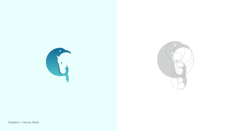 イルカと馬のロゴマーク