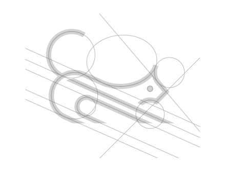 グリッドを活用した動物のロゴデザイン制作例