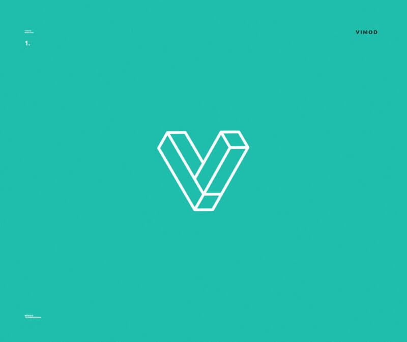建築ユニット企業のロゴデザイン