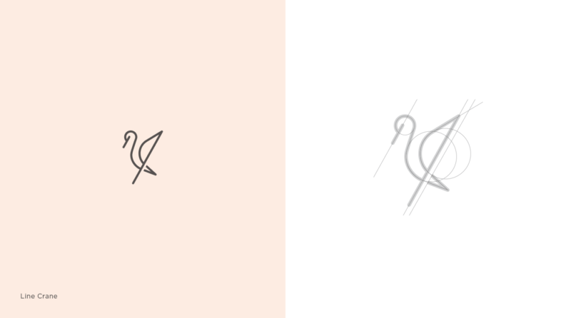 鶴のロゴマーク