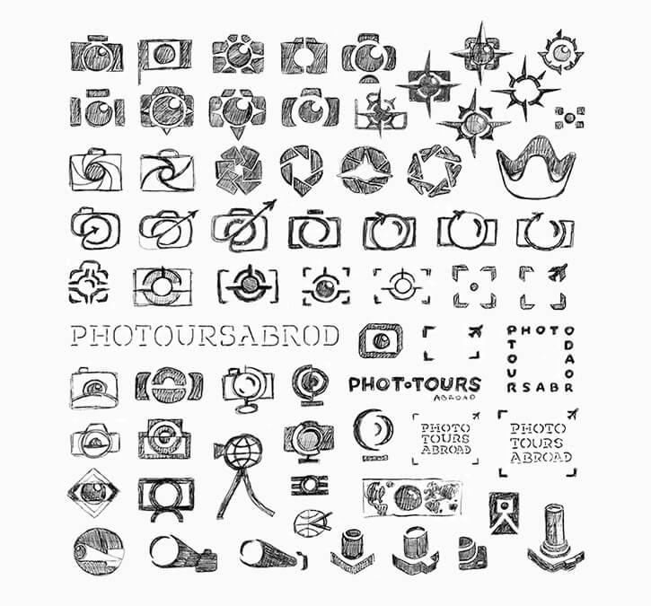 ロゴのスケッチ案