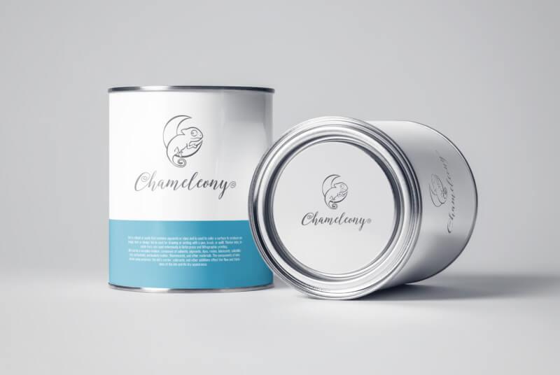塗料・雑貨ショップのロゴデザイン