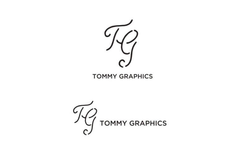 グラフィックデザインプロジェクトのロゴ制作例