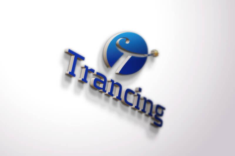 青を基調とした企業ロゴデザイン