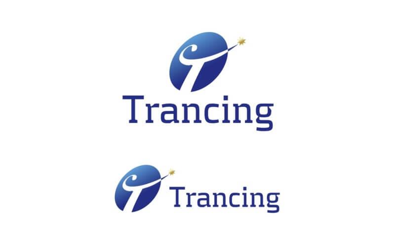 青を基調とした企業ロゴ制作例