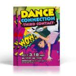躍動感のあるキッズダンサーが印象的なイベントチラシ作成例。