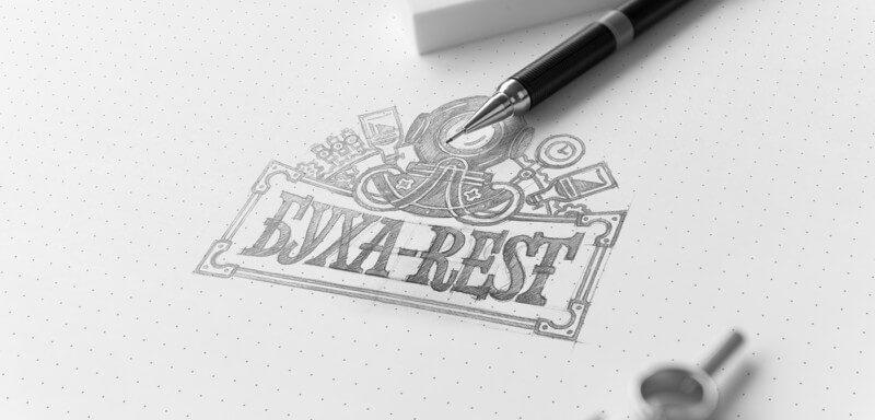 パブのロゴデザイン制作過程