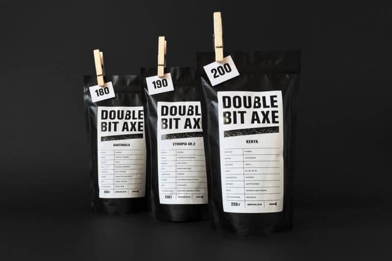 コーヒーのパッケージデザイン