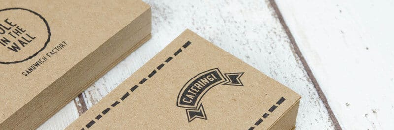 サブロゴを活用したショップカードデザイン