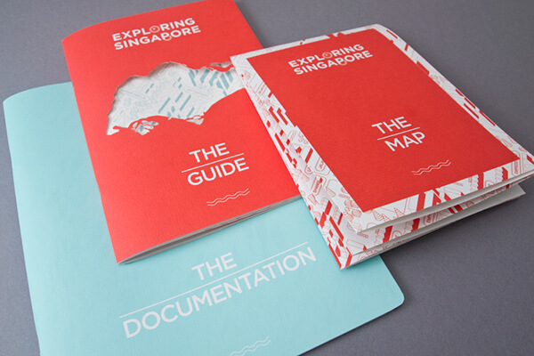 シンガポールのガイドブックデザイン