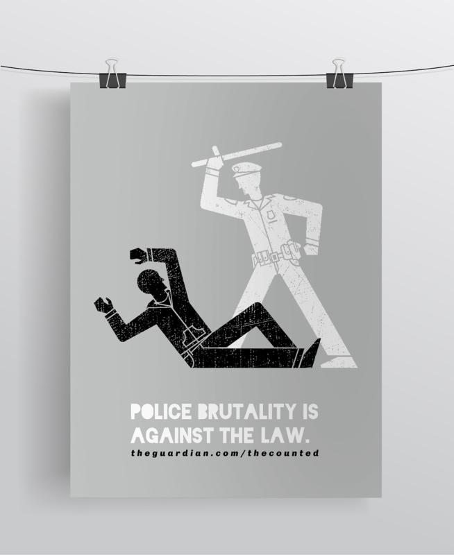 権力の行き過ぎを警告するポスター作成例2