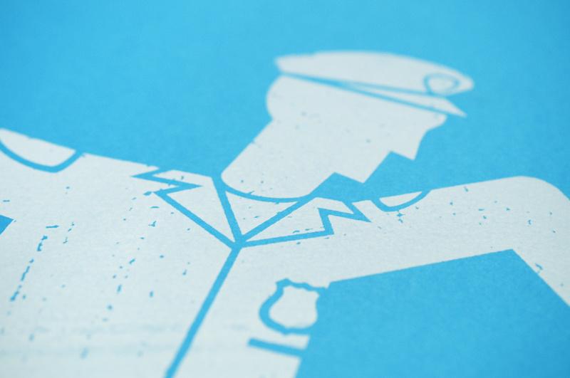 かすれた雰囲気のポスターデザイン3