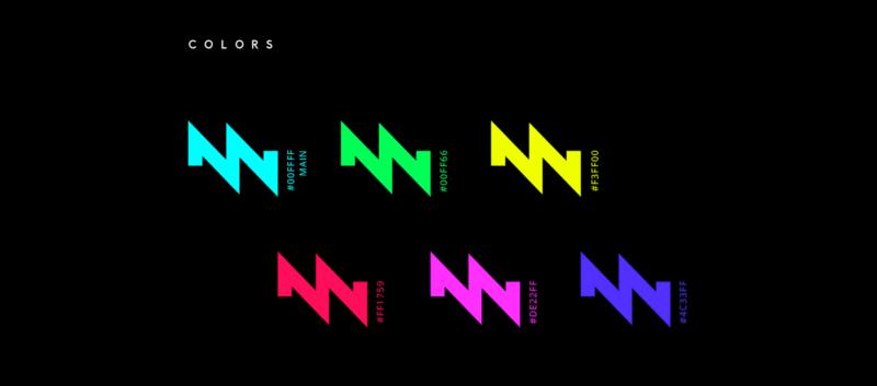 DJロゴのカラーバリエーション