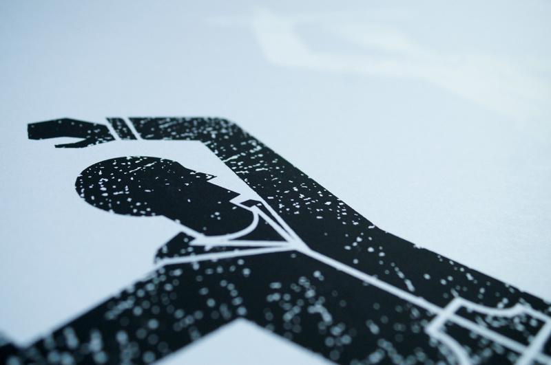 かすれた雰囲気のポスターデザイン1