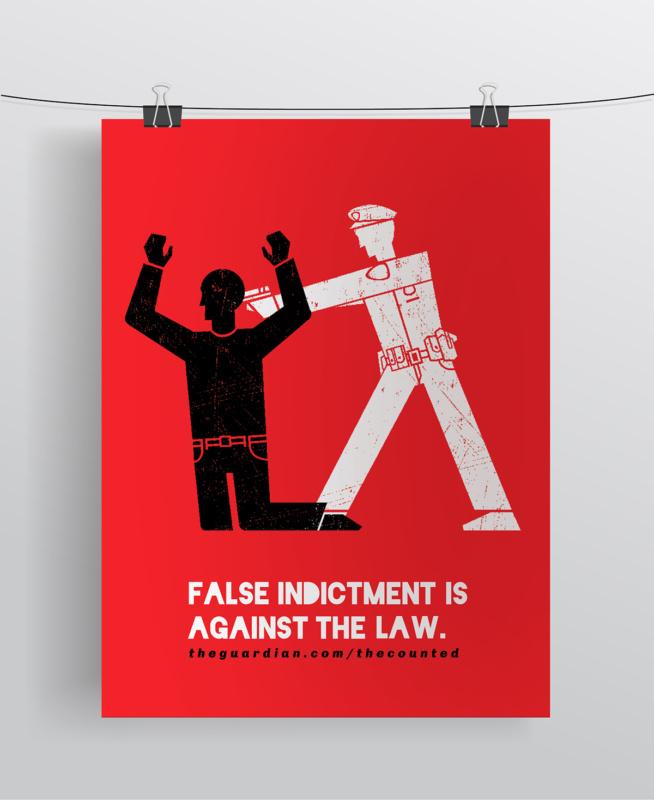 権力の行き過ぎを警告するポスター作成例1